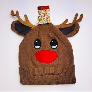 Other - Kids Reindeer Emoji Hat Beanie